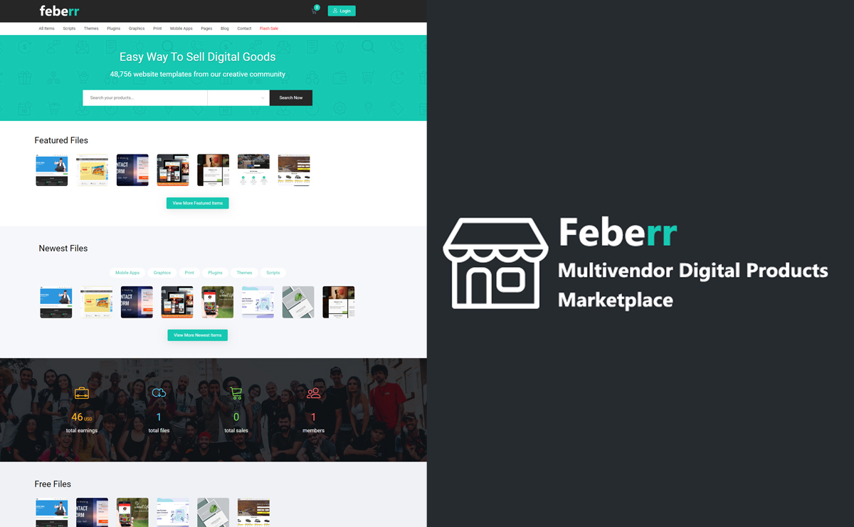 How to Install Feberr – Multivendor Digital Products Marketplace?